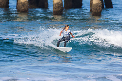 Audrey Presti (USA) advances to the Quarterfinals of the 2918 Junior Women's VANS US Open of Surfing after placing second in Heat 2 of Round 1 at Huntington Beach, CA, USA.