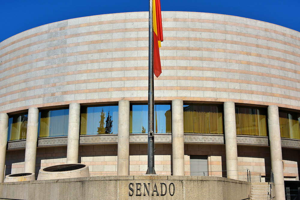 Spanish Senate Building in Madrid, Spain<br />