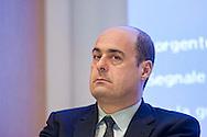 Roma 16 Gennaio 2013.Nicola Zingaretti, candidato alla Presidenza della Regione Lazio per il centrosinistra incontro il personale dell'istituto di Neuropsichiatria infantile del Policlinico Umberto I