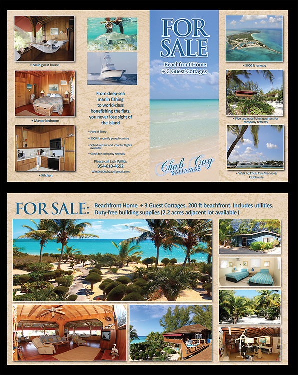 Wits End Chub Cay Property Sale brochure created by Adrian E. Gray for Jack Willits