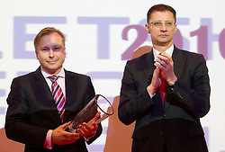 Peter Kukovica and Igor Luksic during the Slovenia's Athlete of the year award ceremony by Slovenian Athletics Federation AZS, on November 12, 2008 in Hotel Mons, Ljubljana, Slovenia.(Photo By Vid Ponikvar / Sportida.com) , on November 12, 2010.