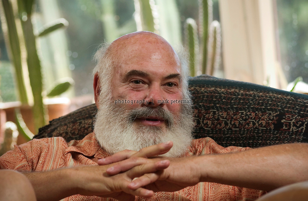 Dr. Andrew Weil in the living room of his home located on a 120 acre ranch that borders on the Saguaro National Park about 15 miles south of Tucson, Arizona.