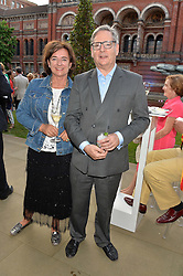 DOMINIC & ROSA MONCKTON at the V&A Summer Party in association with Harrod's held at The V&A Museum, London on 22nd June 2016.