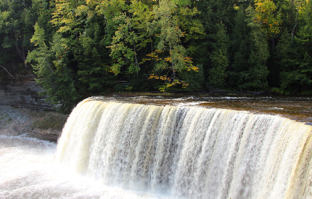 &quot;Glistening of the Falls&quot;<br /> <br /> Glistening Upper Tahquamenon Falls!!<br /> <br /> Waterfalls by Rachel Cohen