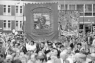 Sharlston Branch banner. 61988 Yorkshire Miner's Gala. Wakefield.