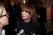 LYNDA LA PLANTE, Specsavers Crime Thriller Awards.  Award ceremony celebrating the best in crime fiction and television. <br /> Grosvenor House Hotel, Park Lane, London. 21 October 2009
