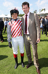 Tim Henman and his wife Lucy who took part in a charity race at Ladies Day at Glorious Goodwood in the UK  Thursday, 1st August 2013<br /> Picture by Stephen Lock / i-Images