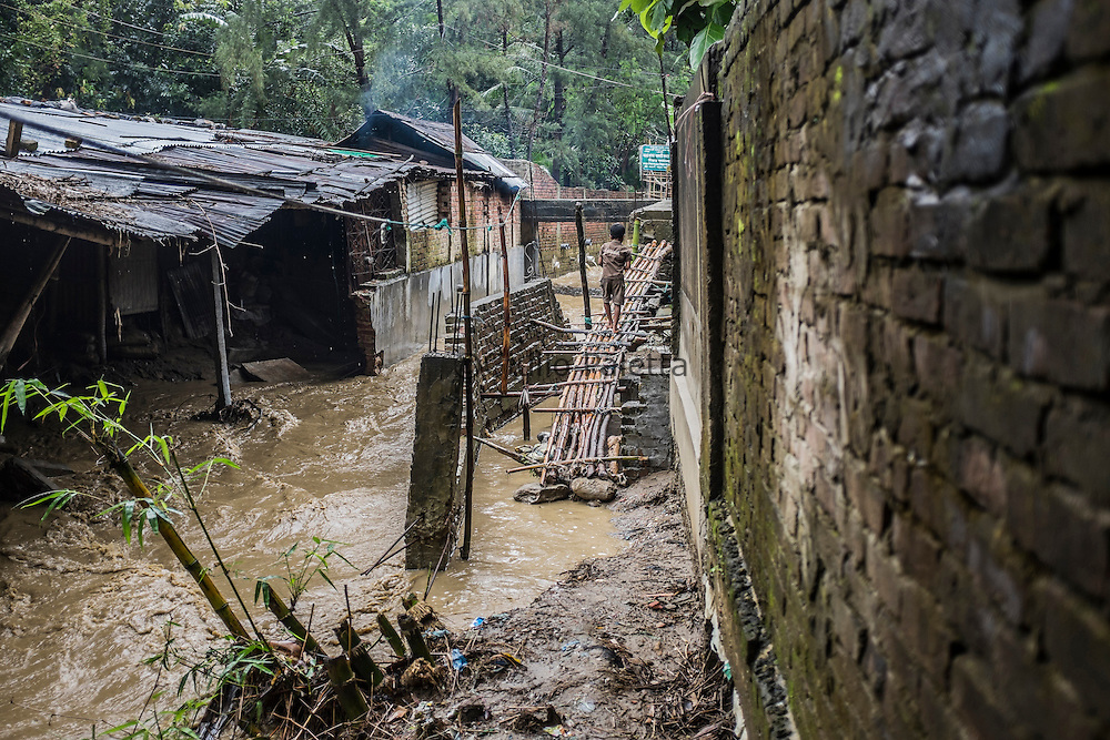 One of the house where one of the surfer girls lives, which gets flooded during the monsoon season in the outskirts of Cox's Bazar, Bangladesh
