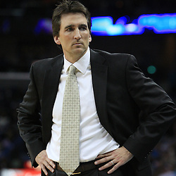 04 February 2009:  Chicago Bulls coach Vinny  Del Negro watches his team during a 93-107 loss by the New Orleans Hornets to the Chicago Bulls at the New Orleans Arena in New Orleans, LA.