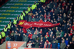 STOKE-ON-TRENT, ENGLAND - Sunday, January 12, 2014: Liverpool supporters' banner 'Spion Kop 1906' during the Premiership match against Stoke City at the Britannia Stadium. (Pic by David Rawcliffe/Propaganda)
