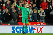Liverpool goalkeeper Caoimhin Kelleher (62) during the EFL Cup match between Milton Keynes Dons and Liverpool at stadium:mk, Milton Keynes, England on 25 September 2019.