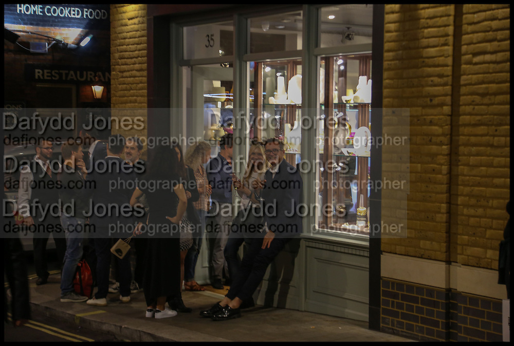 EMMA KAMAN; STEVE ORMANDY, Dinosaur Designs launch of their first European store in London. 35 Gt. Windmill St. 18 September 2014