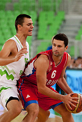 Aleksander Rasic of Serbia during friendly basketball match between National teams of Slovenia and Serbia of Adecco Ex-Yu Cup 2012 as part of exhibition games 2012, on August 5, 2012, in Arena Stozice, Ljubljana, Slovenia. (Photo by Urban Urbanc / Sportida)