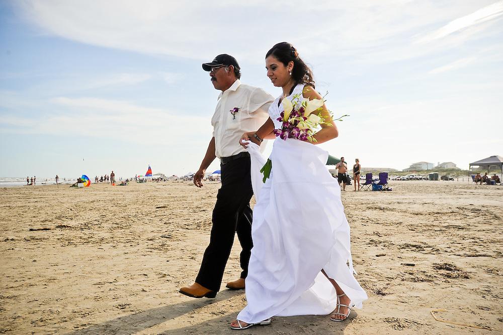 8/13/11 6:04:02 PM -- Port Aransas, TX.Wedding of Connie Torres and Doug Bernal Saturday, August 13, 2011 in Port Aransas.