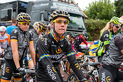 Emilia Fahlin of Wiggle Honda waiting for the start at the Holland Ladies Tour, Zeddam, Gelderland, The Netherlands, 1 September 2015.<br /> Photo: Pim Nijland / PelotonPhotos.com