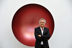 Anish Kapoor photocall & press view.  Influential British-Indian artist attends photocall and private view to debut his collection of sculptures which focus on his interplay between form and light.  Lisson Gallery, London, United Kingdom, October 9, 2012. Photo by Nils Jorgensen / i-Images.