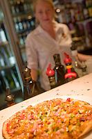A large pizza at the Mango Jam Restaurant in Port Douglas, far north Queensland, Australia.