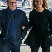 NLD/Amsterdam/20181027 - Herdenkingsdienst Wim Kok, Jaap van Zweden en partner Aaltje van Buuren