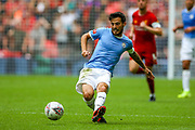 Manchester City midfielder David Silva (21) on the ball during the FA Community Shield match between Manchester City and Liverpool at Wembley Stadium, London, England on 4 August 2019.