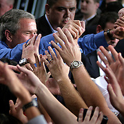 Pres. Bush attends a campaign rally at the Orlando Convention Center Saturday, March 20, 2004, in Orlando, FL...Photo by Khue Bui