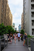 TheHigh Lineis a 2.33kmelevatedlinear park,greenwayandrail trailfollowing the path ofrailway onManhattan's West Side in New York City.