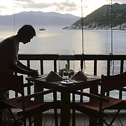Preparing for dinner at the Evason Hideaway in Nha Trang, Vietnam.