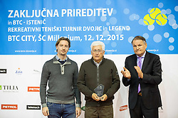 Drago Zavrsnik at Istenic doubles Tournament and Slovenian Tennis personality of the year 2015 annual awards presented by Slovene Tennis Association TZS, on December 12, 2015 in Millenium Centre, BTC, Ljubljana, Slovenia. Photo by Vid Ponikvar / Sportida