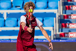 Andrey Rublev (RUS) during a tennis match against the Blaz Kavcic (SLO) in first round of singles at 26. Konzum Croatia Open Umag 2015, on July 22, 2015, in Umag, Croatia. Photo by Urban Urbanc / Sportida