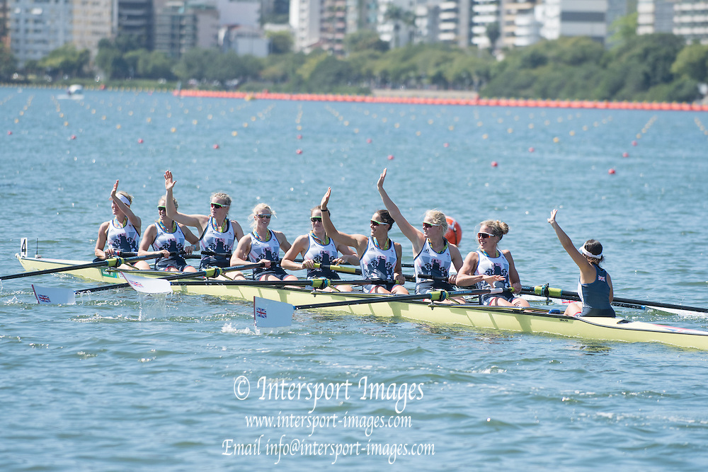 Rio de Janeiro. BRAZIL.  GBR W8+, GBR W8+. Katie<br />