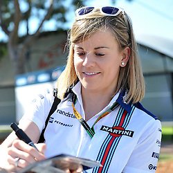 Susie Wolff of Williams Martini F1 Team.<br /> Round 1 - Second day of the 2015 Formula 1 Rolex Australian Grand Prix at The circuit of Albert Park, Melbourne, Victoria on the 13th March 2015.<br /> Wayne Neal | SportPix.org.uk