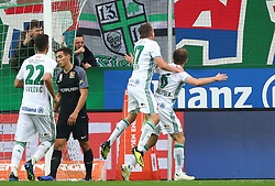 28.10.2018, Allianz Stadion, Wien, AUT, 1. FBL, SK Rapid Wien vs FC Flyeralarm Admira, 12. Runde, im Bild Torjubel Christopher Dibon (SK Rapid Wien) und Mario Sonnleitner (SK Rapid Wien) // during Austrian Football Bundesliga Match, 12th Round, between SK Rapid Vienna and FC Flyeralarm Admira at the Allianz Arena, Vienna, Austria on 2018/10/28. EXPA Pictures © 2018, PhotoCredit: EXPA/ Thomas Haumer