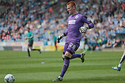 Lloyd Allinson (Huddersfield Town) on in place of Jed Steer (Huddersfield Town) is called into action for the first time during the Sky Bet Championship match between Huddersfield Town and Brentford at the John Smiths Stadium, Huddersfield, England on 7 May 2016. Photo by Mark P Doherty.