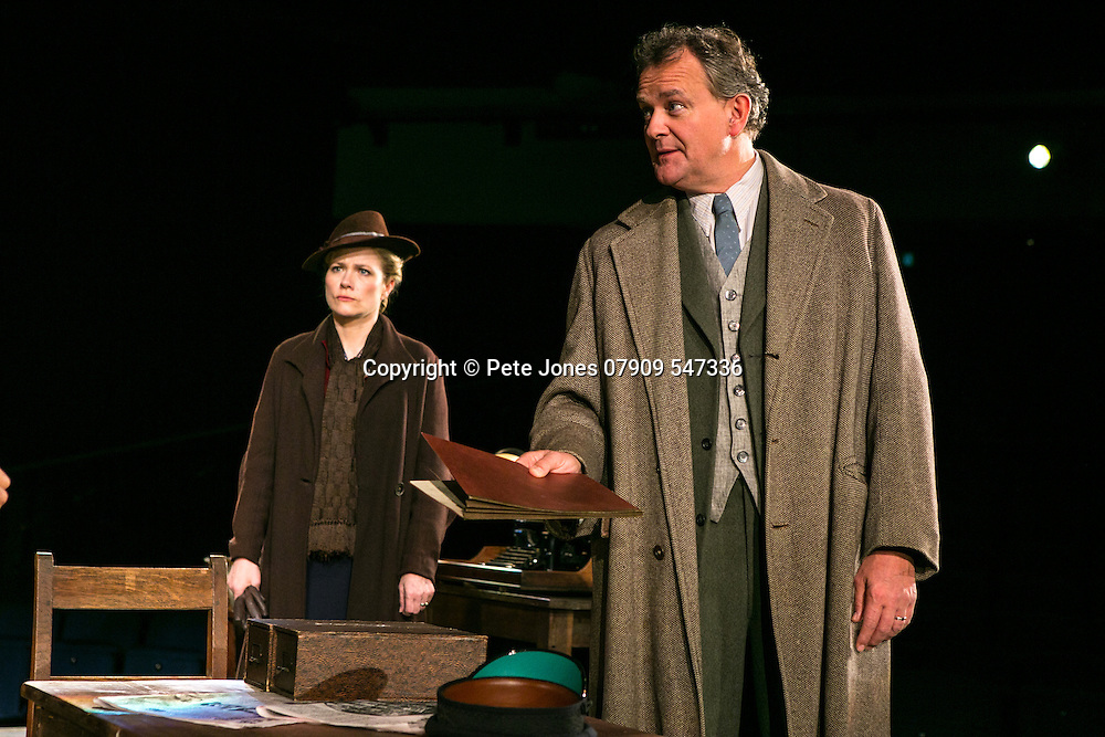 An Enemy of the People by Henrik Ibsen;<br /> Directed by Howard Davies;<br /> Hugh Bonneville as Dr Tomas Stockmann;<br /> Abigail Cruttenden as Mrs Stockmann;<br /> Chichester Festival Theatre, Chichester, UK;<br /> 29 April 2016