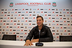 LIVERPOOL, ENGLAND - Sunday, June 18, 2017: Marcus Willis in the press room on a visit Anfield during Day Four of the Liverpool Hope University International Tennis Tournament 2017. (Pic by David Rawcliffe/Propaganda)