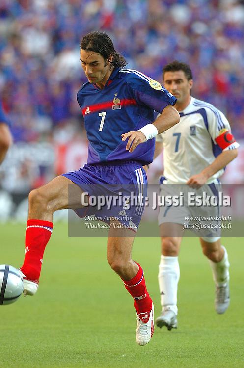 Robert Pires, France-Greece 25.6.2004.&amp;#xA;Euro 2004.&amp;#xA;Photo: Jussi Eskola<br />