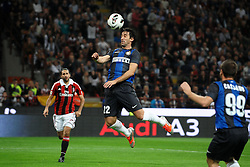 07.10.2012, Giuseppe Meazza Stadion, Mailand, ITA, Serie A, AC Mailand vs Inter Mailand, 7. Runde, im Bild 07.10.2012, Giuseppe Meazza Stadion, Mailand, ITA, Serie A, AC Mailand vs Inter Mailand, 7. Runde, im Bild Diego Milito Inter // during the Italian Serie A 7th round match between AC Milan and Inter Milan at the Giuseppe Meazza Stadium, Milan, Italy on 2012/10/07. EXPA Pictures © 2012, PhotoCredit: EXPA/ Insidefoto/ Andrea Staccioli..***** ATTENTION - for AUT, SLO, CRO, SRB, SUI and SWE only *****