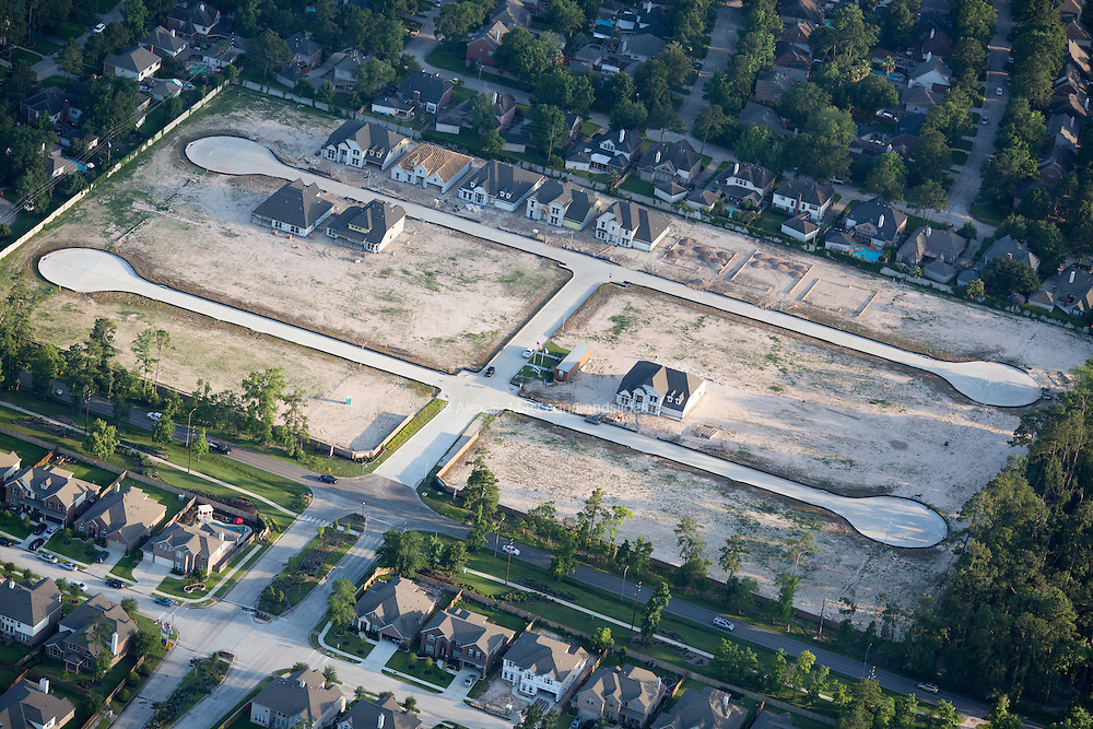 Upper middle class housing development construction outside Houston