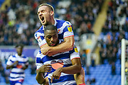 Goal Reading midfielder Yakou Méïte (19) scores a goal and celebrates 1-1 during the EFL Sky Bet Championship match between Reading and Birmingham City at the Madejski Stadium, Reading, England on 7 December 2019.