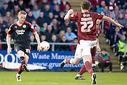 Crawley Town midfielder Frankie Sutherland during the Sky Bet League 2 match between Northampton Town and Crawley Town at Sixfields Stadium, Northampton, England on 19 April 2016. Photo by Dennis Goodwin.