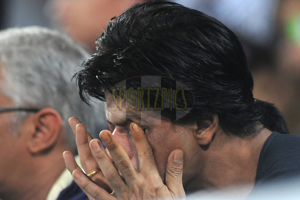 Shahrukh Khan owner of KKR  during the CLT20 - Q6 match between Kolkata Knight Riders and Somerset held at the Rajiv Gandhi International Stadium, Hyderabad on the 21st September 2011..Photo by Pal Pillai/BCCI/SPORTZPICS