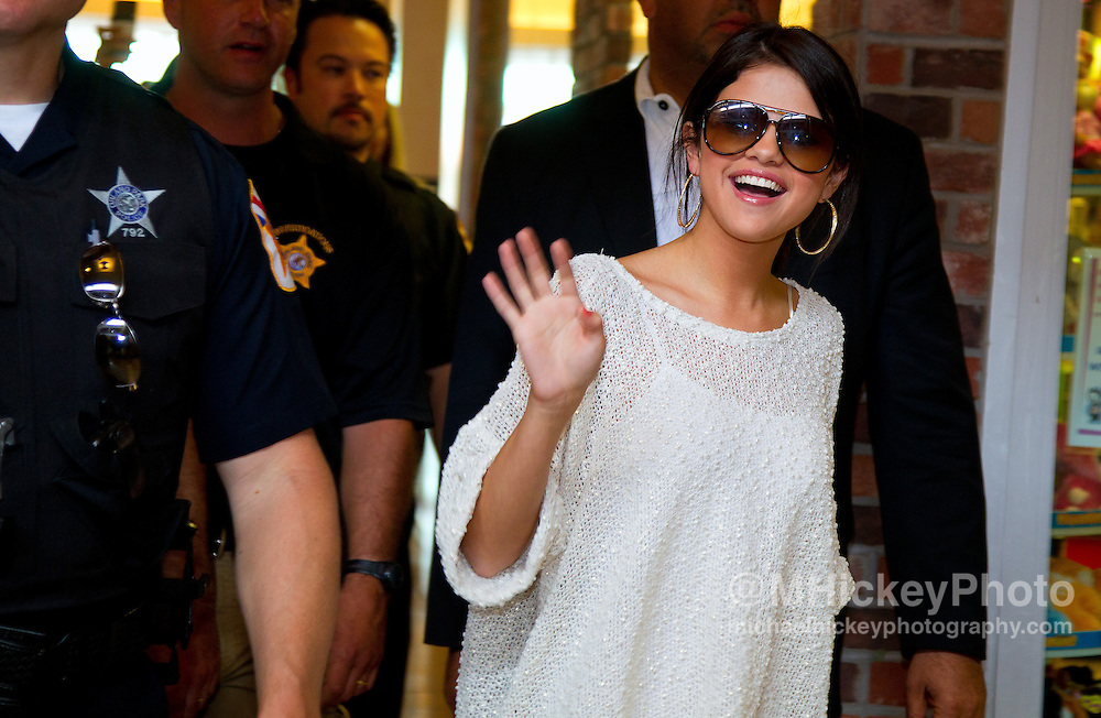 Selena Gomez appears at the Orland Square Mall to promote her movie Monte Carlo in Chicago..Photo by Michael Hickey