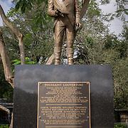 MIAMI, FLORIDA - FEBRUARY 8, 2016<br /> A statue honoring Haitian Revolution hero Toussaint Louverture in Miami's Little Haiti neighborhood. The park itself is called Toussaint Louverture Monument Park.<br /> (Photo by Angel Valentin)