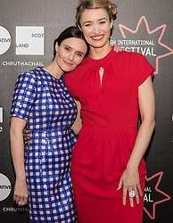 Photo-opportunity for The Dark Mile directed by Gary Love at the Edinburgh International Film Festival<br /> <br /> Pictured: Rebecca Calder and Deirdre Mullins