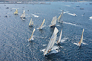 France Saint - Tropez October 2013, Classic yachts racing at the Voiles de Saint - Tropez<br /> <br /> Start Classic Yachts Regatta