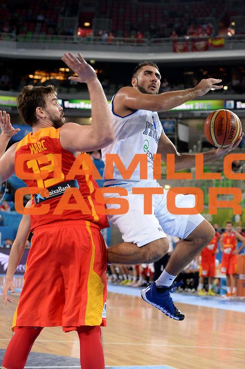 DESCRIZIONE : Lubiana Ljubliana Slovenia Eurobasket Men 2013 Second Round Italia Spagna Italy Spain<br /> GIOCATORE : Pietro Aradori<br /> CATEGORIA : Tiro<br /> SQUADRA : Italia Italy<br /> EVENTO : Eurobasket Men 2013<br /> GARA : Italia Spagna Italy Spain<br /> DATA : 16/09/2013 <br /> SPORT : Pallacanestro <br /> AUTORE : Agenzia Ciamillo-Castoria/Max.Ceretti<br /> Galleria : Eurobasket Men 2013<br /> Fotonotizia : Lubiana Ljubliana Slovenia Eurobasket Men 2013 Second Round Italia Spagna Italy Spain<br /> Predefinita :
