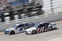 July 1, 2018 - Joliet, Illinois, United States of America - Chase Elliott (9) battles for position during the Overton's 400 at Chicagoland Speedway in Joliet, Illinois  (Credit Image: © Justin R. Noe Asp Inc/ASP via ZUMA Wire)