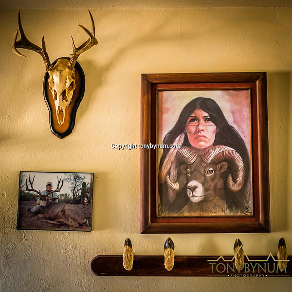 wall art inside mexican adobe ranch home sonora mexico | Tony Bynum ...
