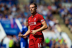 LEICESTER, ENGLAND - Saturday, September 1, 2018: Liverpool's captain Jordan Henderson during the FA Premier League match between Leicester City and Liverpool at the King Power Stadium. (Pic by David Rawcliffe/Propaganda)
