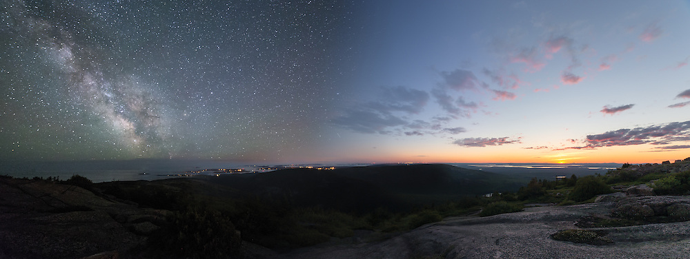 Day to Night Panoramic from Cadillac Mountain