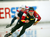 Skøyter, 9-10. november 2002. Verdenscupåpning, Vikingskipet, Christian Breuer, Tyskland.
